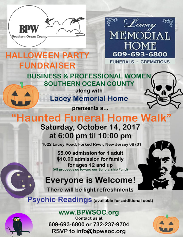 Business & Professional Women Southern Ocean County Haunted Halloween Walk